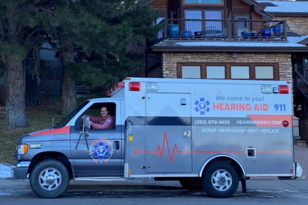 James Richwine from Hearing Aid 911 During a House Call