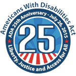 Americans With Disability Act - 25th Anniversary Logo